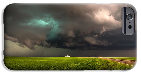 Lightning Photographer iPhone Cases - May Thunderstorm iPhone Case by Sean Ramsey