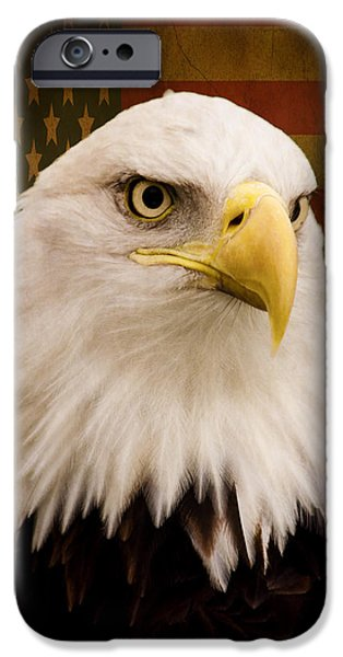 Constitution iPhone Cases - May Your Heart Soar Like An Eagle iPhone Case by Jordan Blackstone