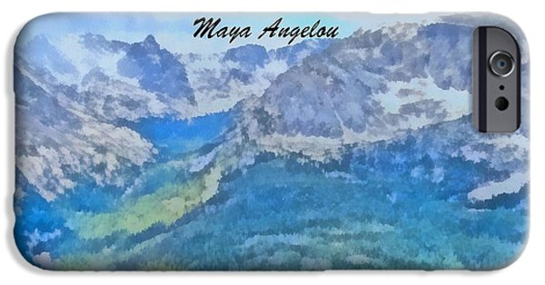 Racism Mixed Media iPhone Cases - Maya Angelou iPhone Case by Dan Sproul