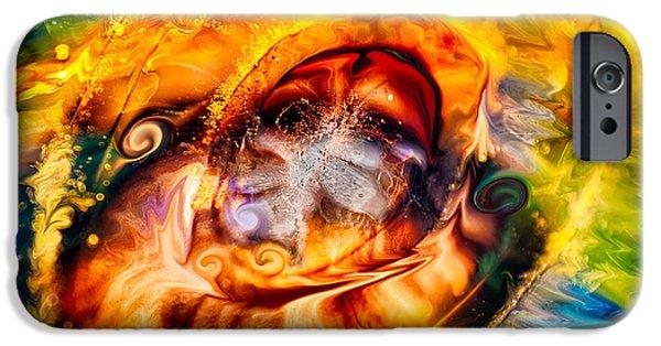 Sacrifice Mixed Media iPhone Cases - Mayan God iPhone Case by Omaste Witkowski