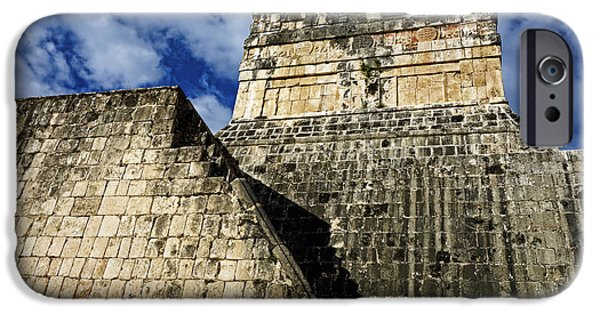 Ruin iPhone Cases - Mayan Ruins at Chichen Itza iPhone Case by Ann Powell