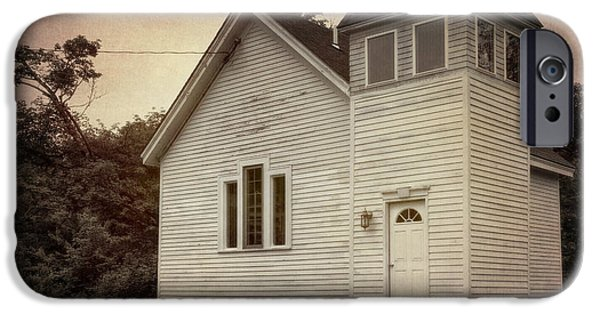 Village iPhone Cases - Maybe a Church iPhone Case by Joan Carroll