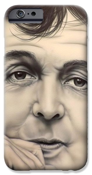 Paul Mccartney Paintings iPhone Cases - Maybe Im Amazed iPhone Case by Darren Robinson