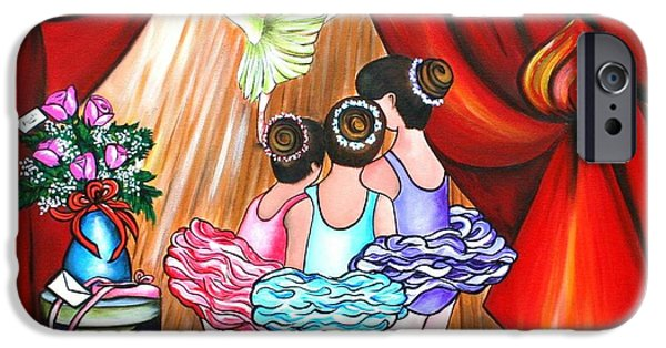 Dance Ballet Roses iPhone Cases - Maybe Some Day iPhone Case by Annie Maxwell