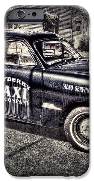 Mayberry Taxi iPhone Case by David Arment