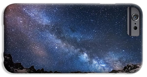 Darren iPhone Cases - Mayflower Gulch Milky Way iPhone Case by Darren  White
