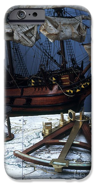 Mayflower Model With Quadrant iPhone Case by Fred Maroon