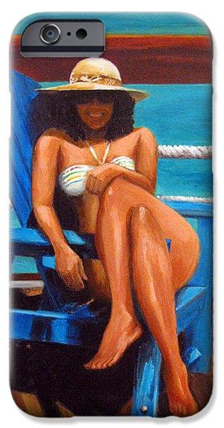 Beach Model iPhone Cases - Mayi Caribe - I Wish You Were Here iPhone Case by Patricia Awapara
