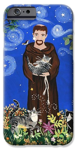 May's St. Francis iPhone Case by Sue Betanzos