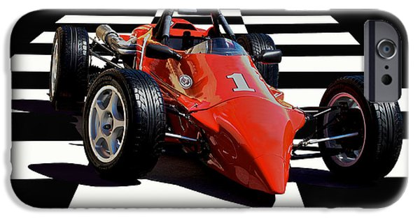 Indy Car iPhone Cases - Mazda - Indy Training Car iPhone Case by Dave Koontz