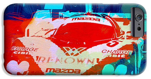Racing Photographs iPhone Cases - Mazda Le Mans iPhone Case by Naxart Studio