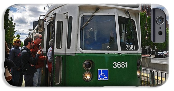 Boston Ma iPhone Cases - MBTA Green Line iPhone Case by Mike Martin