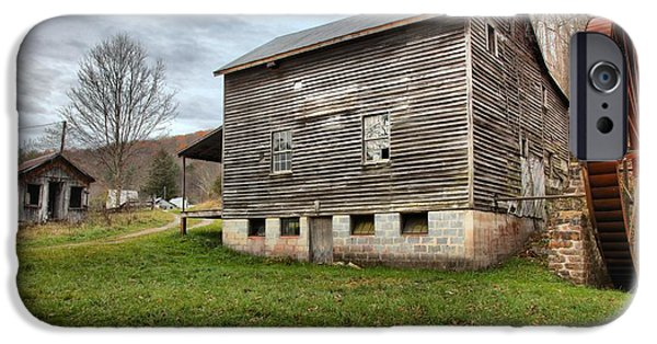 Grist Mill iPhone Cases - McClungs Grist Mill Landscape iPhone Case by Adam Jewell