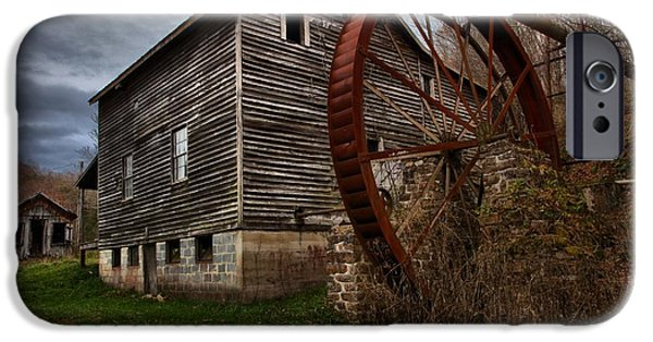 Grist Mill iPhone Cases - McClungs Grist Mill West Virginia iPhone Case by Adam Jewell