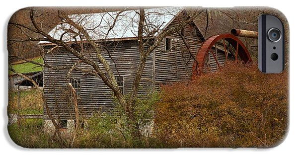 Grist Mill iPhone Cases - McClungs Mill In The Forest iPhone Case by Adam Jewell