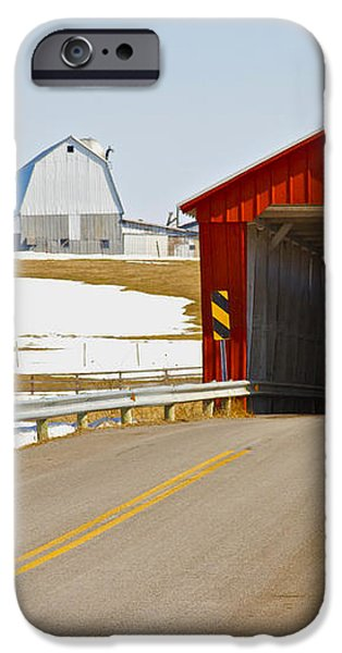 McColly Covered Bridge iPhone Case by Jack R Perry