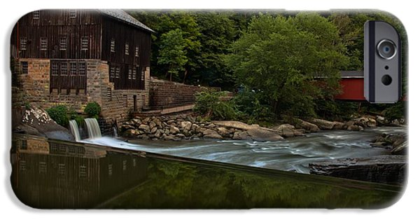 Grist Mill iPhone Cases - McConnells Mill And A Covered Bridge iPhone Case by Adam Jewell