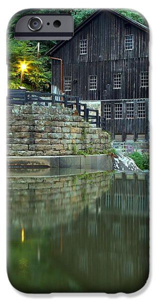 Grist Mill iPhone Cases - McConnells Mill At Dusk iPhone Case by Adam Jewell