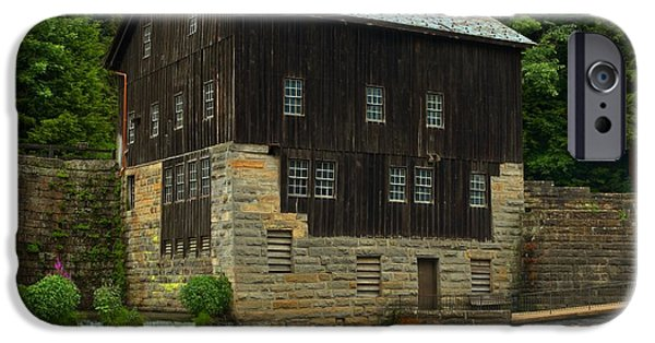 Grist Mill iPhone Cases - McConnells Mill Grist Mill Waterfalls iPhone Case by Adam Jewell