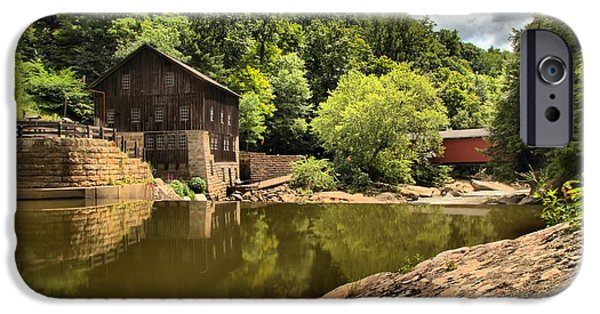 Grist Mill iPhone Cases - McConnells Mill Landscape iPhone Case by Adam Jewell
