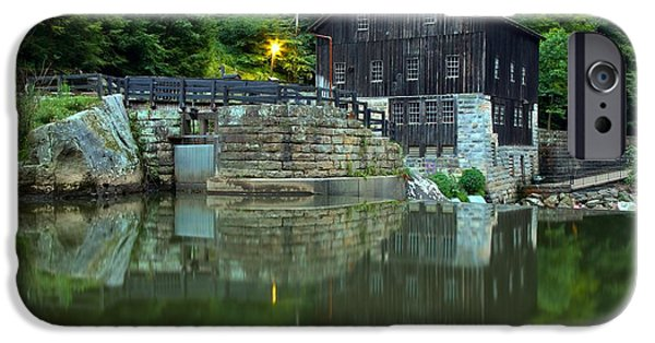 Grist Mill iPhone Cases - McConnells Mill Landscape Reflections iPhone Case by Adam Jewell