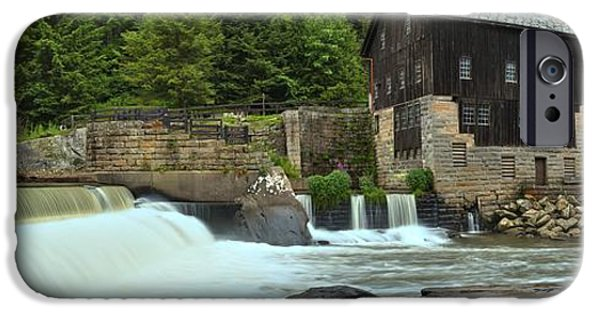 Grist Mill iPhone Cases - McConnells Mill Medium Panorama iPhone Case by Adam Jewell