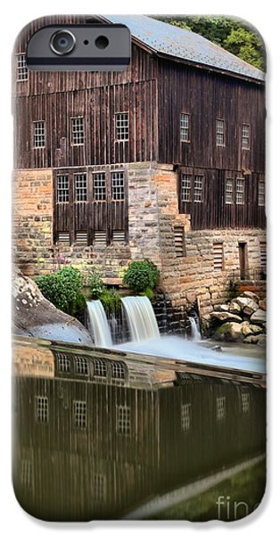 Grist Mill iPhone Cases - McConnells Mill Reflections iPhone Case by Adam Jewell