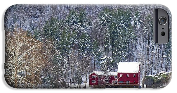 Grist Mill iPhone Cases - McCoys Mill iPhone Case by Teena Bowers