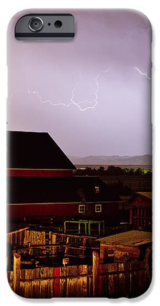 McIntosh Farm Lightning Thunderstorm iPhone Case by James BO  Insogna