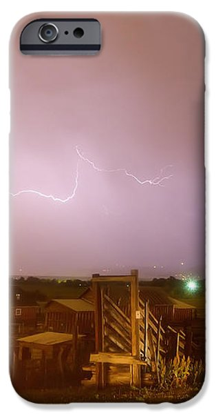 McIntosh Farm Lightning Thunderstorm View iPhone Case by James BO  Insogna