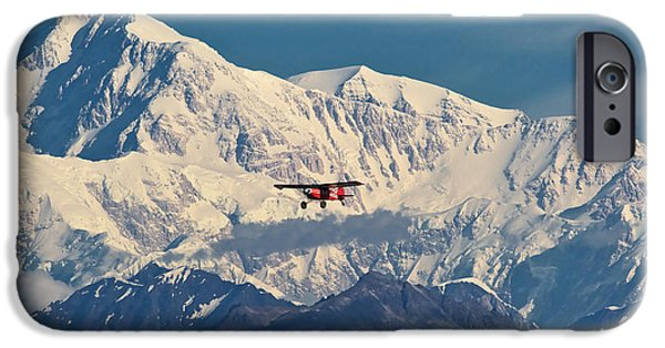 Mounted iPhone Cases - McKinley Air iPhone Case by Ed Boudreau