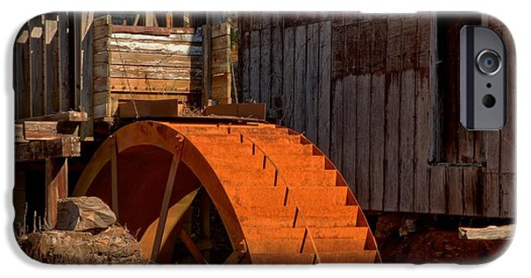 Grist Mill iPhone Cases - McKinney Mill Wheel iPhone Case by Adam Jewell