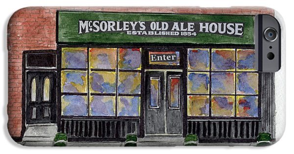 Recently Sold -  - East Village iPhone Cases - McSorleys Old Ale House iPhone Case by Lynn Lieberman
