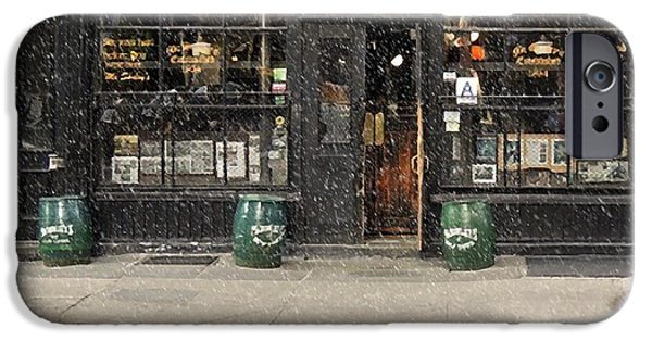 Recently Sold -  - East Village iPhone Cases - McSorleys Old Ale House iPhone Case by Michael Braham