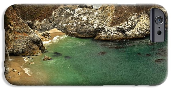 Big Sur Ca iPhone Cases - McWay Falling Into The Pacific iPhone Case by Adam Jewell
