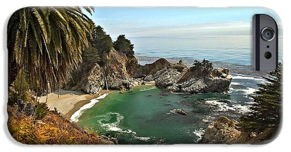 Big Sur Ca iPhone Cases - McWay Falls iPhone Case by Adam Jewell