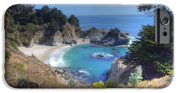 Big Sur Beach iPhone Cases - McWay Falls iPhone Case by Marco Crupi