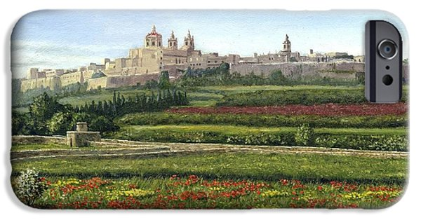 Sectioned iPhone Cases - Mdina Poppies Malta iPhone Case by Richard Harpum