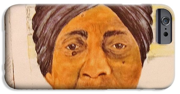 Negro Paintings iPhone Cases - Mee Maw  iPhone Case by ELARUE Erma Bonner- Platte