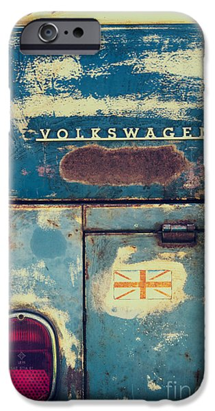 Rusted Cars iPhone Cases - Me Old Dub iPhone Case by Tim Gainey