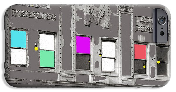 David iPhone Cases - Meaders Theater 1919 Washington D.C. 1919-2010 iPhone Case by David Lee Guss