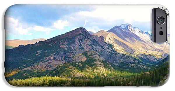 Meadow Photographs iPhone Cases - Meadow and Mountains iPhone Case by Kathleen Struckle