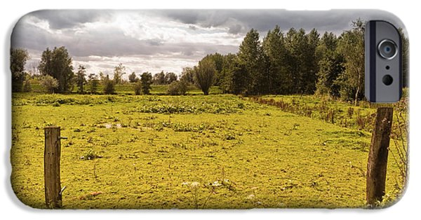 Meadow Photographs iPhone Cases - Countryside iPhone Case by Wim Lanclus