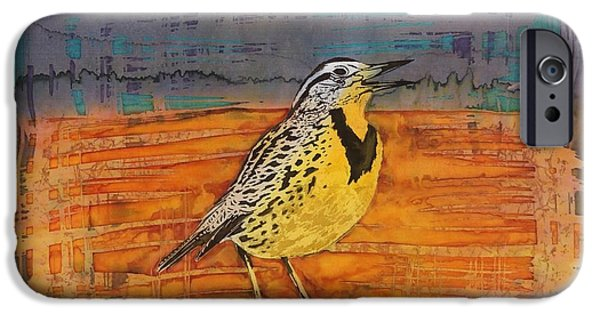 Birds Tapestries - Textiles iPhone Cases - Meadows Song iPhone Case by Carolyn Doe