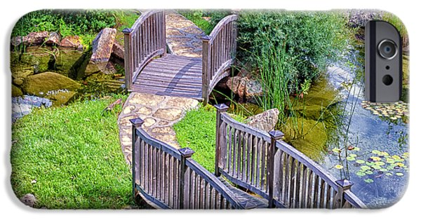 Garden Scene Photographs iPhone Cases - Meandering Pathway iPhone Case by Christi Kraft