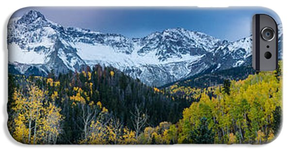 Winter Storm iPhone Cases - Mears Peak and Sneffels Range in Fall - Colorado iPhone Case by Gary Whitton