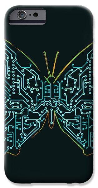 Mechanic butterfly iPhone Case by Budi Kwan