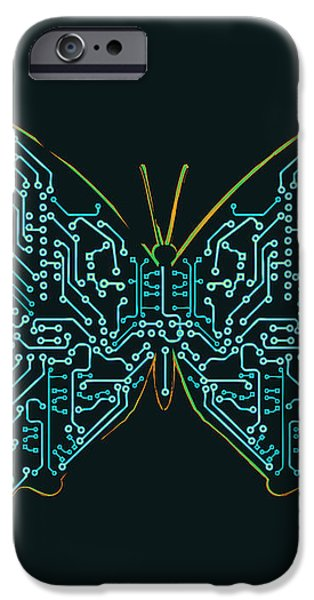 Mechanic butterfly iPhone Case by Budi Satria Kwan