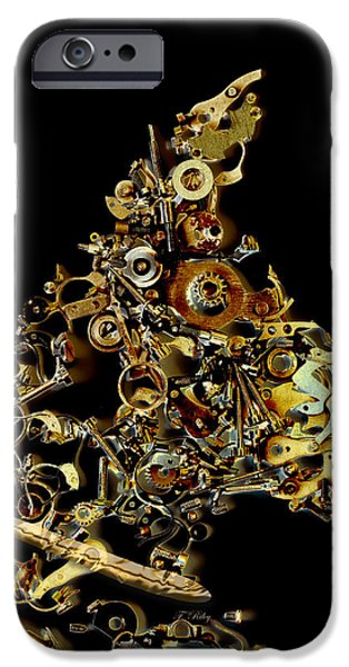 Mechanical - Dog iPhone Case by Fran Riley