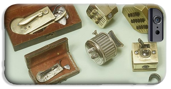 Nineteenth iPhone Cases - Mechanical Scarificators, Circa 1780-1900 iPhone Case by Science Photo Library